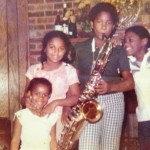 Sal at approximately age 12 with cousins and sister by his side.  Sal started playing saxophone in 6th grade at age 10.